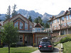 Our condo in Canmore. You can see Ha Ling peak at the far right.