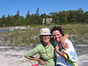 Mum, 'daaaater', and the house at Red Bay....