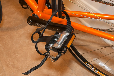 Pedal clips take some getting used to