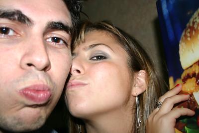 Jose and Lorena get kissy kissy
