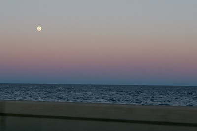 Moonrise on the causeway