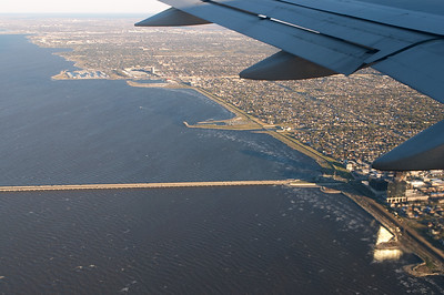 The New Orleans coastline