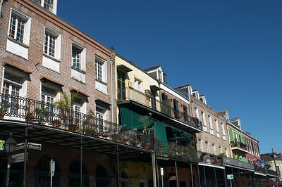 The French Quarter is in nicer shape. I assume it was first to be restored