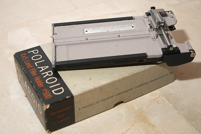Polaroid Land 500 film holder