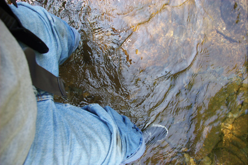 While in the river with the Nike Free shoes, I could touch the river bed as if I were barefoot.