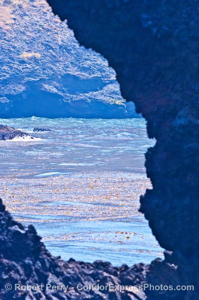 One of many Santa Cruz Island natural sea arches
