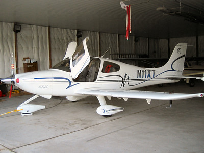 The Cirrus SR20 we flew out on.
