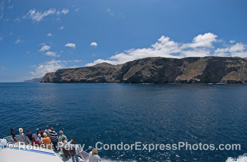 The northwestern coast of Santa Cruz Island