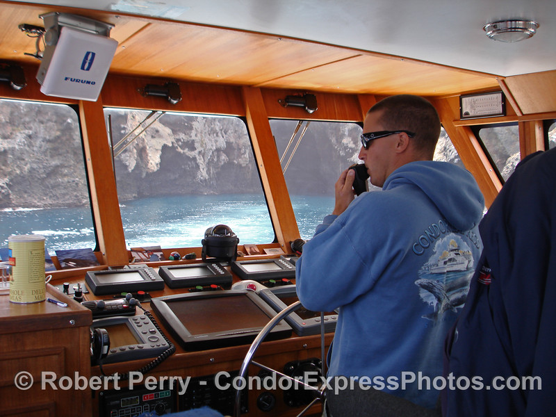 Captain Anthony heads into the famous Painted Cave on Santa Cruz Island