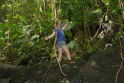Natalia is a master climber/scrabbler