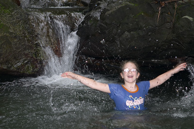 Natalia was as happy as the proverbial 10-year-old in a waterfall
