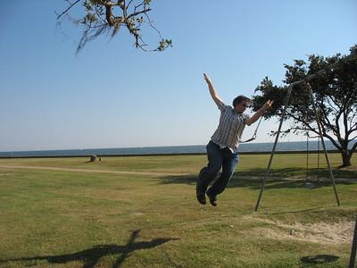 Dan jumps!