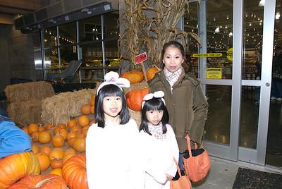 Outside where a few pumpkins left