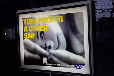SAP advertisements, not limited to US airports :-)