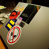 The Beginning Stages of Laptop Stickering