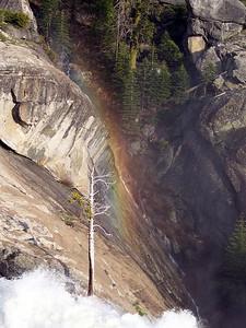 Rainbow above the falls.