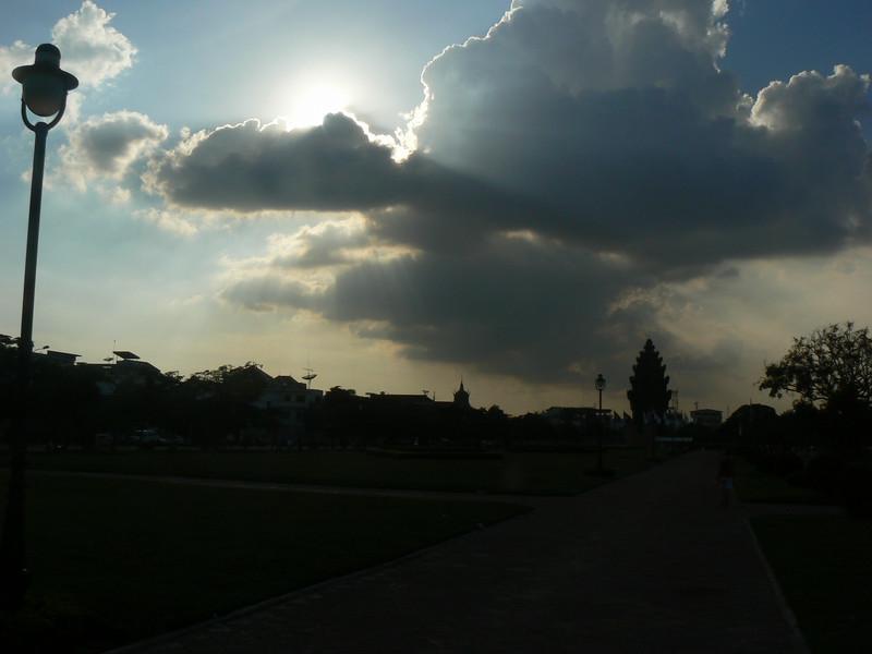 Evening In Batambong, Cambodia.