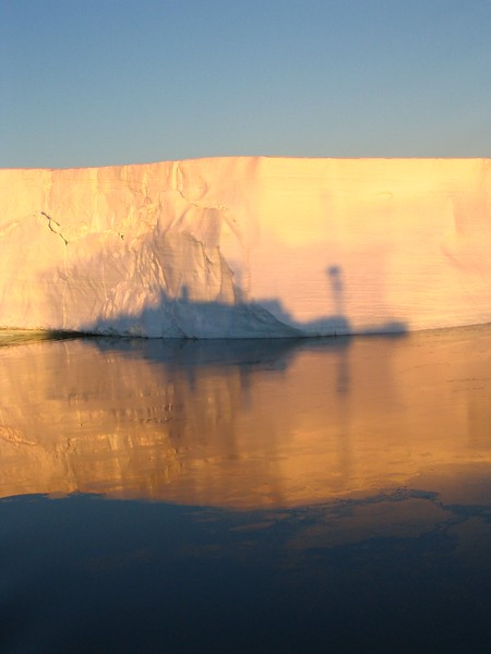 Ship shadow on iceberg - Andrew Gossen