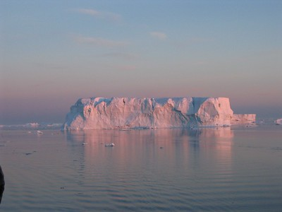 Pink iceberg at sunset - Andrew Gossen
