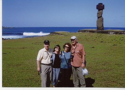 Moseleys, Sparling and Meisel on Easter Island - Caroline Moseley