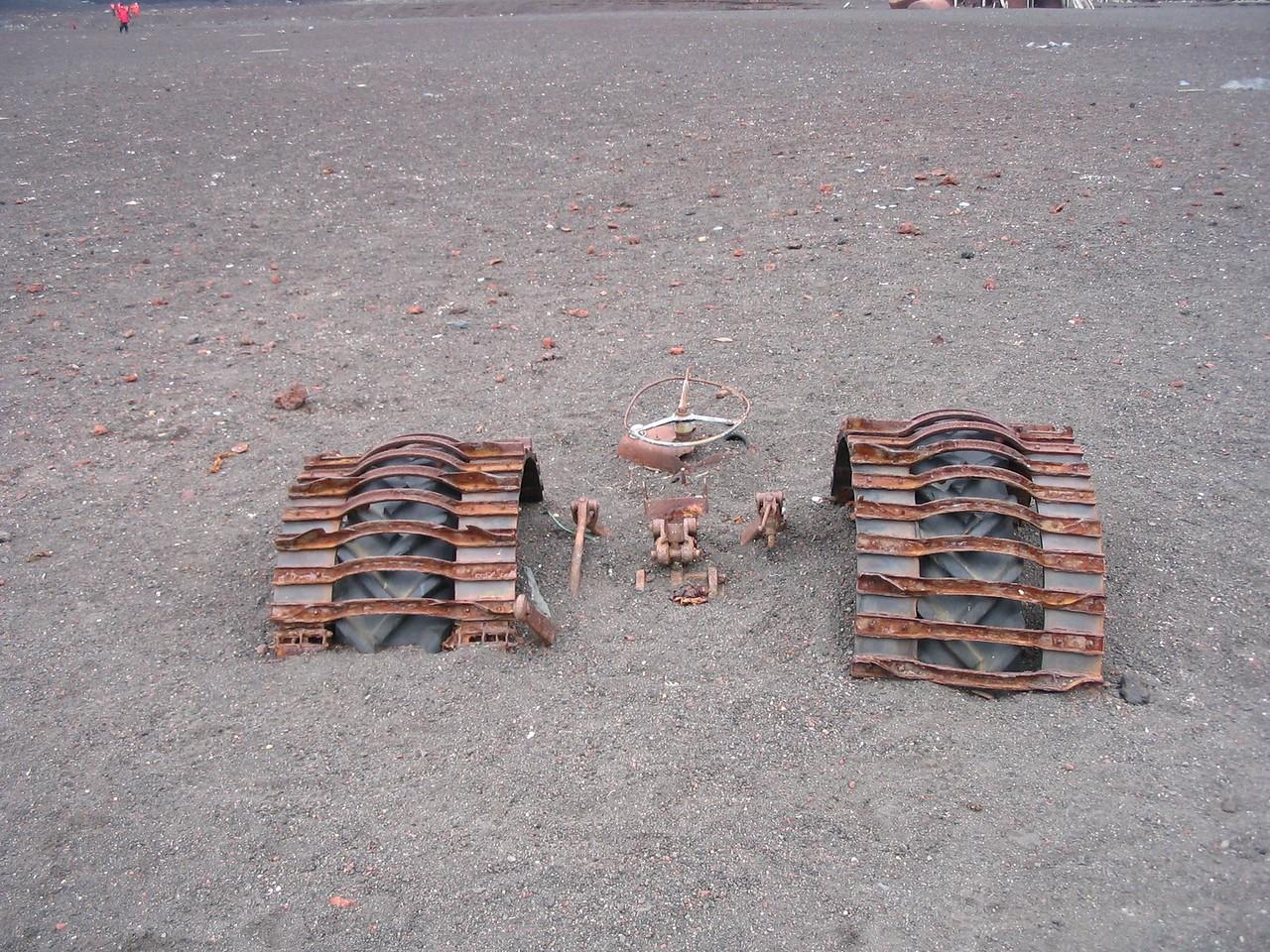 Tractor buried by ash - Andrew Gossen