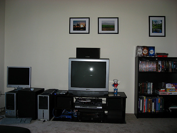 Living Room -- TV and audio system!