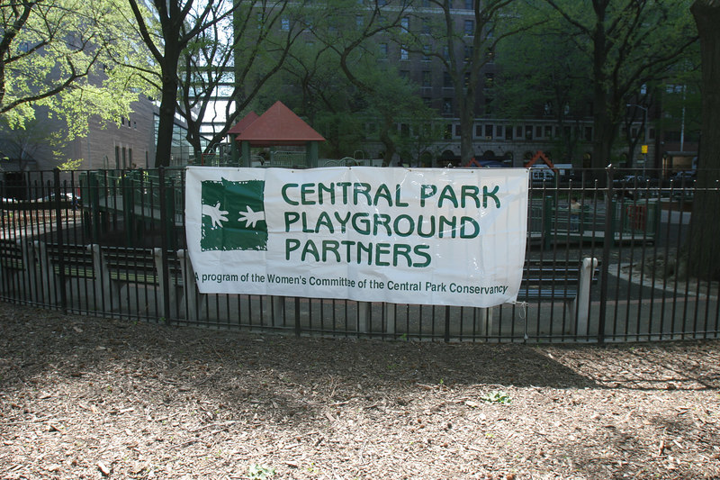 Central Park Conservancy Playground Partners Sponsors Children's Day Mulching Event