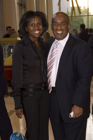 Al Roker and his wife, Deborah Roberts, at the New York Philharmonic Spring Gala, April 26, 2006<br /> <br /> PHOTO: Julie Skarratt