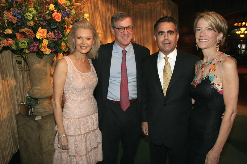 """Audrey Gruss, Thomas Edelman, Allen Brill & Diana Quasha at """"The Time Machine,"""" <a href=""""http://www.lenoxhill.org/"""">Lenox Hill Neighborhood House's</a> annual spring celebration, sponsored by <a href=""""http://www.rolex.com/en/"""">Rolex Watch U.S.A.</a> which serves as Gala Preview of the Spring International Art & Antiques Show"""