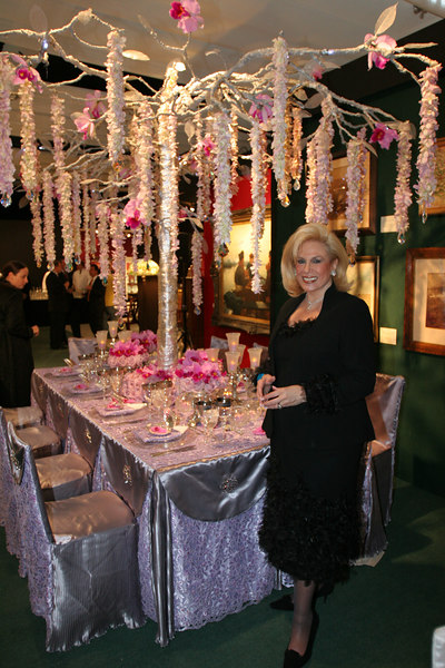 "Event Planner <a href=""http://www.gourmetadvisory.com/"">Harriette Rose Katz</a> with her table design"
