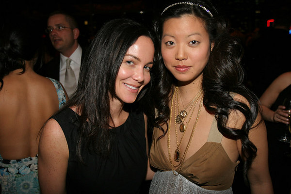 "(L-R)<a href=""http://www.tracypaul.com"">Tracy Paul</a> & Alice Kim, Accessories Director of In Style at The Friends of New Yorkers For Children New Years in April--""A Fool's Fete 2006"""