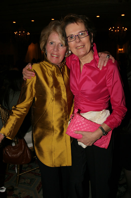Long time Board Member and evening honoree, Beth Dater with WIN Founder Rita Zimmer