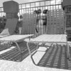 Deck chairs, pool-side