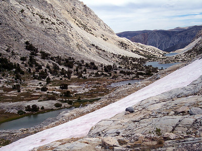 Paternoster lakes up Piute Pass. Taken from the pass.