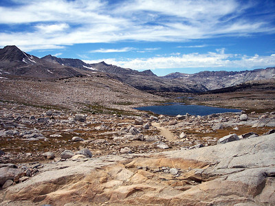 Summit Lake and Glacier Divide.