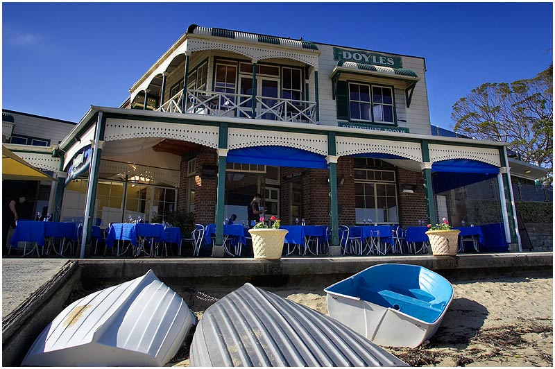 Watson's Bay, Thursday August 3rd 2006. <br /> <br /> One of Sydney's most famous dining institutions is Doyles on the Beach at Watsons Bay. The family owned and run seafood restaurant opened on this site in 1885. <br /> <br /> <br /> EXIF DATA <br /> Canon 1D Mk II. EF 17-35 f/2.8L@17mm 1/160 f/10 ISO 250.