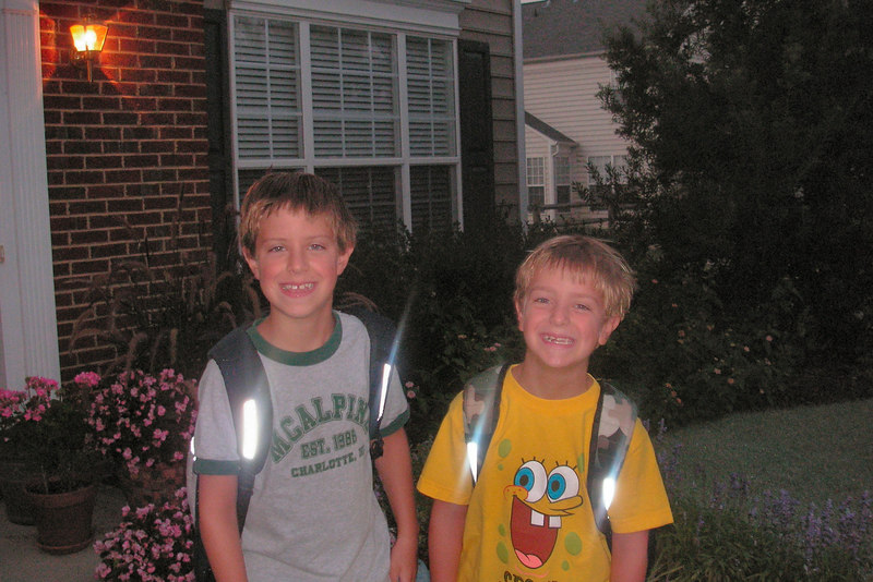 First day of school, Jacob 3rd. grade, Anthony 1st. grade