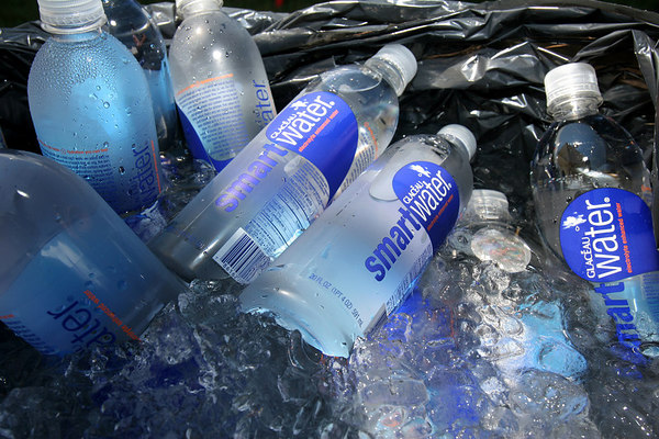 On a hot Hamptons Day, a pool of Smart Water seems like a good idea.