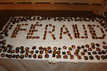 Feraud spelled out in mini eclairs, how creative !