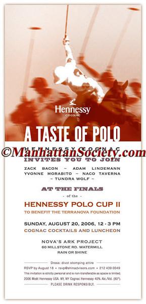 Hennessy Taste of Polo Evite