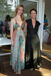 Cindi Cook & Marie Eiffel at the Shelter Island home of Mike Latham of the Gimme Shelter Exhibition to Benefit Earthpledge