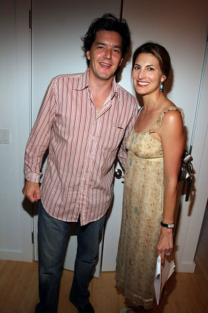Alistair & Blair Clarke at the Shelter Island Home of Mike Latham for the Gimme Shelter Exhibition to Benefit Earthpledge