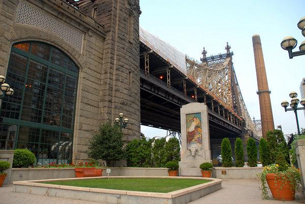 the Evangeline Blashfield Fountain in the Bridgemarket Plaza at 59th Street between, First Avenue & York Avenue