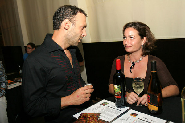 Diageo Market Manager for Metro New York Lisa Gurvey administers a wine tasting
