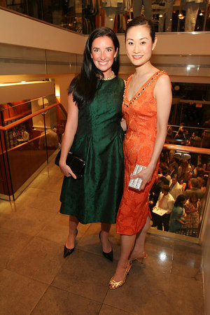 "Victoria Christian  & Ida Liu at Brooks Brothers for Cocktails for <a href=""http://www.newyorkphilharmonic.org/support/yny/index.cfm?page=home"">Young New Yorkers for the Philharmonic</a>: ""Summer Party."""