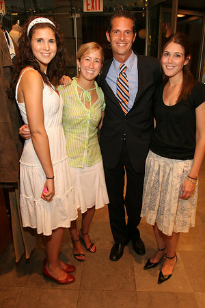"Stefani McCullach, Kelly Thomas, Arthur Wayne & Alina Hauptanian at at Brooks Brothers for Cocktails for <a href=""http://www.newyorkphilharmonic.org/support/yny/index.cfm?page=home"">Young New Yorkers for the Philharmonic</a>: ""Summer Party."""