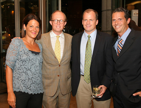 "Julie Dannenberg Regal, Mark Gilbertson, VIP Guest & Arthur Wayne at Brooks Brothers for Cocktails for <a href=""http://www.newyorkphilharmonic.org/support/yny/index.cfm?page=home"">Young New Yorkers for the Philharmonic</a>: ""Summer Party."""