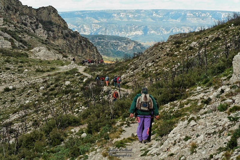 Aureille - En redescendant des Opies vers le Val de Lègue