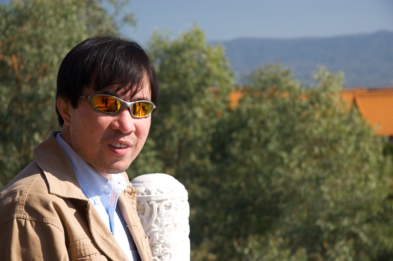 Phuong • Phuong, a friend who looked after me while I was working in Sydney, at the Nan Tien Temple.