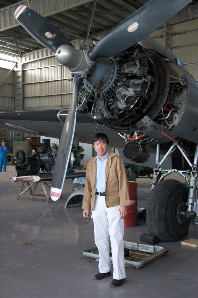 """Phuong at HARS • We visited the hangar of the <a href=""""http://www.hars.org.au"""" title=""""Historical Aircraft Restoration Society"""">HARS</a> at Albion Park, in the Illawarra region south of Sydney."""